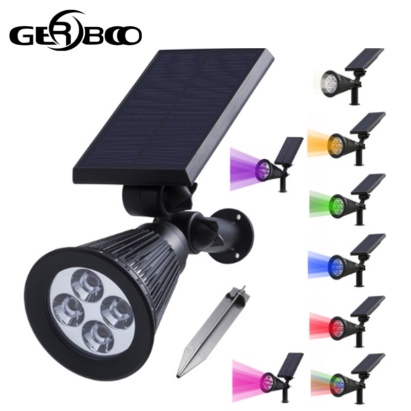 4 Led Solar Light For Garden Decoration Outdoor Pathway Waterproof LED Solar Powered Lawn Lights Street Landscape Yard Lamp brd technology solar powered 4 led spotlight outdoor waterproof garden 1 5w led bright white light lamp for outdoor landscape garden driveway pathway yard lawn house tree etc solar energy exterior lighting auto on at night and auto off by day