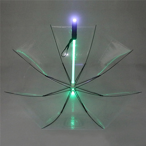 Image 5 - 4 צבעים Creative Led מטריית כוכב מלחמת חרב אור גשם נשים גברים אור פלאש מטריית הגנת לילה יום הולדת מתנה לחג המולד