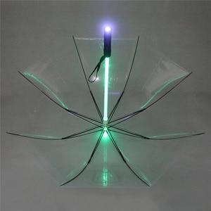 Image 5 - 4 색 크리 에이 티브 led 우산 스타 워즈 lightsaber 비 여자 남자 라이트 플래시 우산 밤 보호 생일 크리스마스 선물