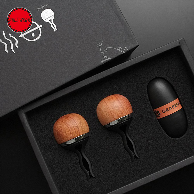 1 Pack Creative Wood Jellyfish Car Vent Clip Air Freshener Solid Car Fragrance Perfume Scent Car Interior Accessories car outlet perfume air freshener with thermometer lime