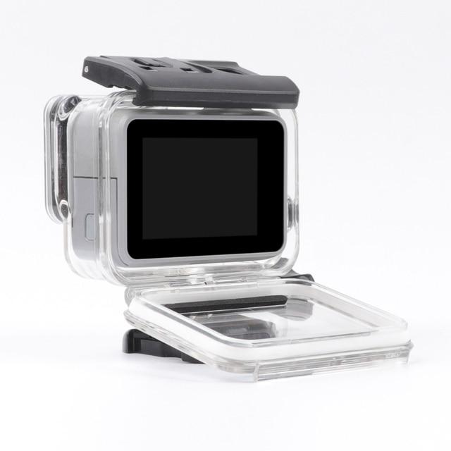 RuigPro pour Gopro Hero 7 blanc/argent 45M boîtier étanche sous-marin caméra boîtier de plongée monture pour accessoire GoPro