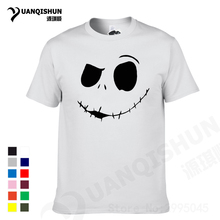 YUANQISHUN Funny Expression Print T-Shirt Fashion Men Cotton Tshirt Short Sleeve Tee Face Printing T Shirts Casual Fitness Tops