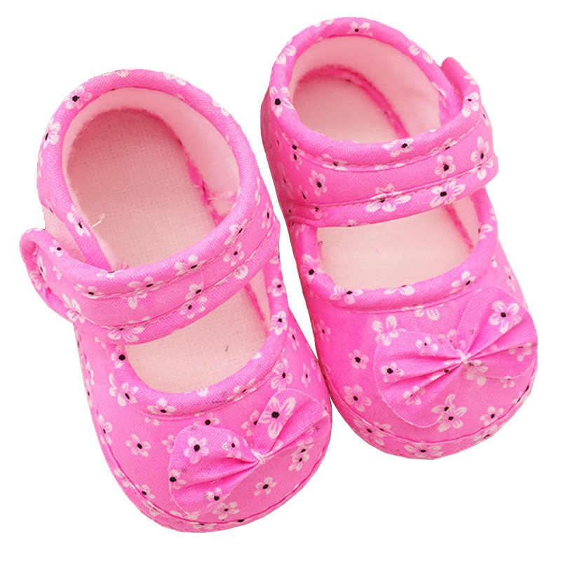 Sevimli bebek ayakkabıları yenidoğan ilk yürüyüşe 2018 bahar Sneakers Toddler bebek ayakkabıları çocuklar kaymaz Prewalker ayakkabı beşik ayakkabı