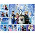 Multi Style Ice Freeze Anna & Elsa Olaf Cartoon Snow Queen Paper Puzzle Toy Kids & Adults Interest Puzzle Toys 10 Scenes