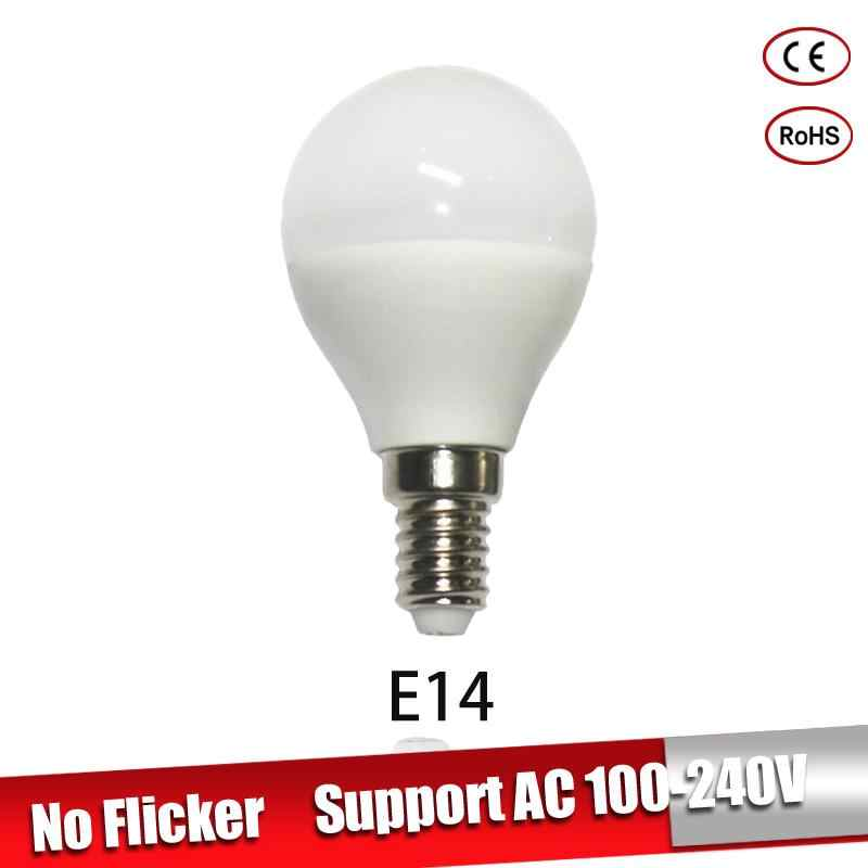 Bombillas LED E27 220v 110v 3w 5w 7w E14 lamparas led  9w 12w 15w Led Light Bulb For chandelier cold warm white For Home