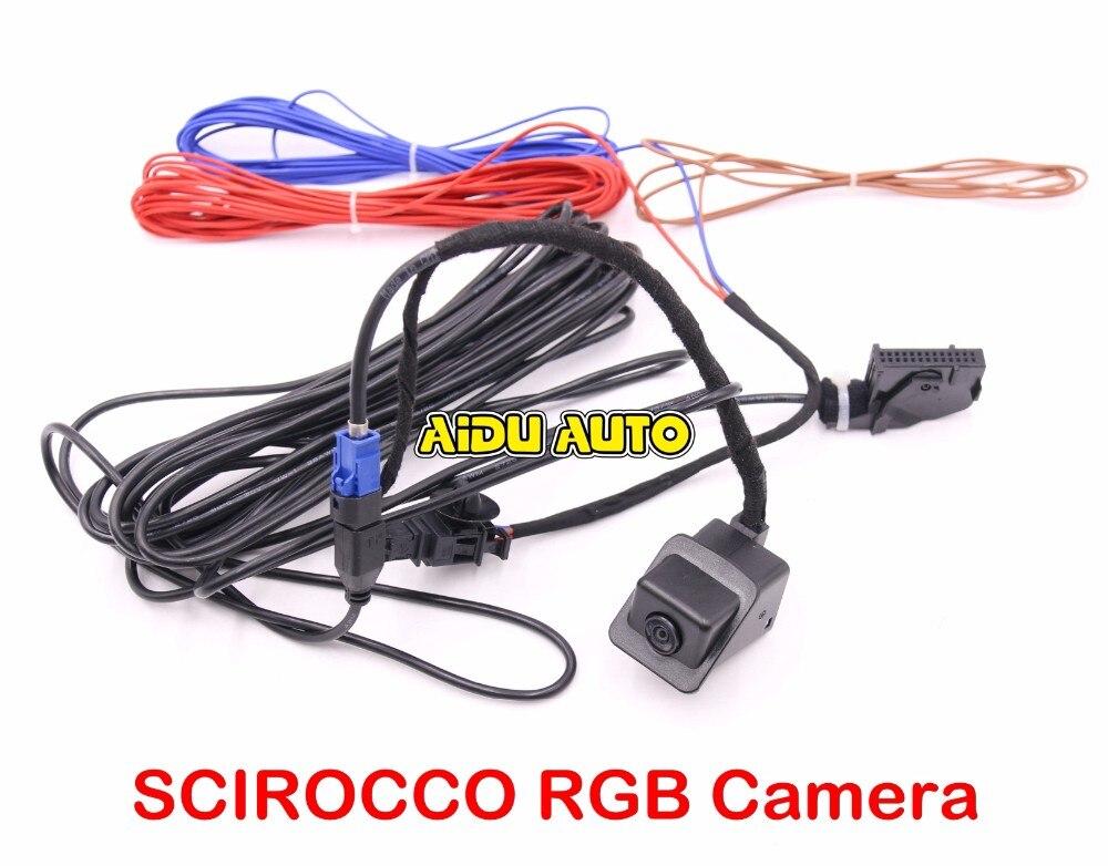 Комплект камеры заднего вида SCIROCCO RGB для VW RNS510 RCD510 RNS315
