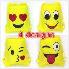 12pcs/lot emoji string bags baby shower party supplies kids birthday 34*27cm