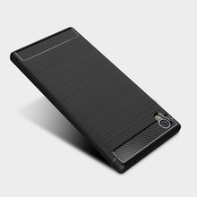 Voor Sony Xperia L1 Case Carbon Fiber Voor Sony L1 Case Xperia 20 2 10 L2 L3 XZ4 XZ2 XZ1 compact XZ3 XA3 XA2 XA1 Ultra Plus Covers(China)