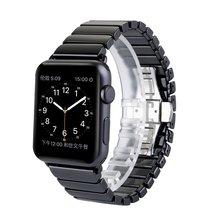 El más noble de alta calidad venda de reloj de cerámica correa de pulsera de enlace original + adaptador de conector para apple watch iwatch 38mm 42mm