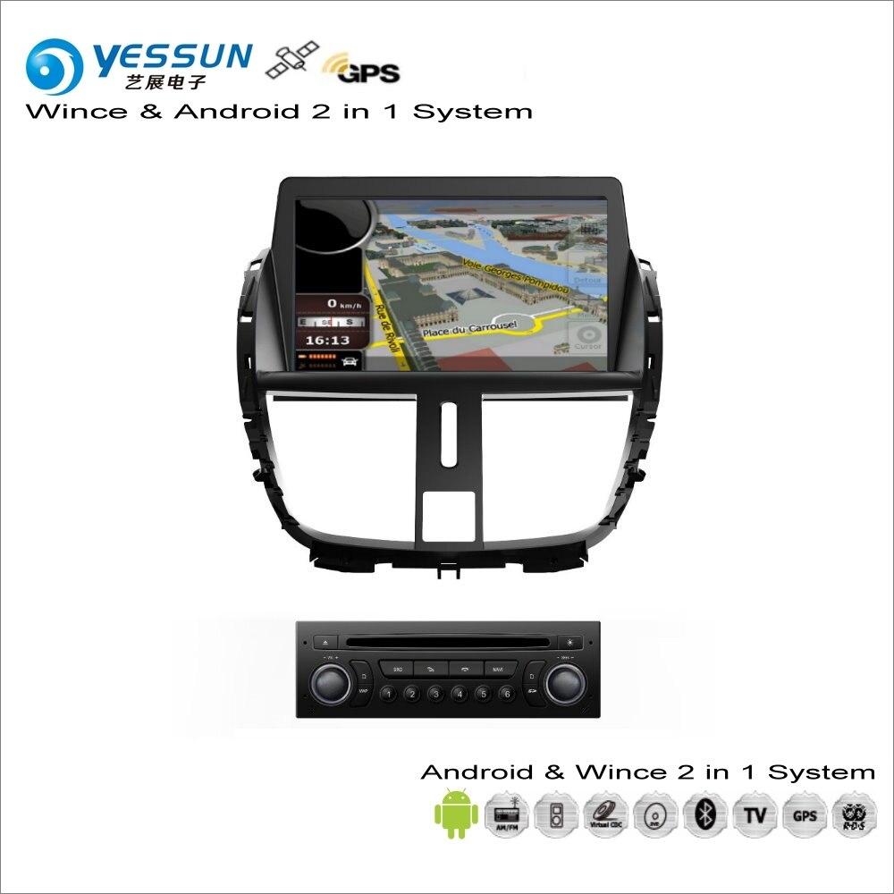 YESSUN Pour Peugeot 207/206 + 2009 ~ 2013-Voiture Android Multimédia Radio CD Lecteur DVD GPS Navi carte de Navigation Audio Vidéo Stéréo