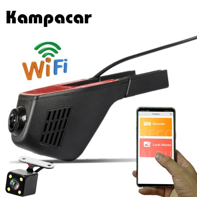 Kampacar 2 Hidden Wifi Car Camera Novatek 96658 Sony IMX 323 Car Dvr Video Recorder Auto Dual Camera DVRs Full HD 1080P Dash Cam 2 inch car dvr full hd 1080p video recorder dash cam novatek 96658 imx 323 wifi app control for ios android devices auto logger