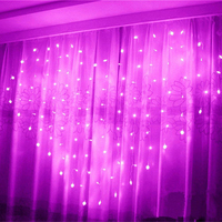 LED fairy string curtain Light Heart shaped 2M*1.5M 124 Leds For Christmas Wedding party window garland Valentine Xmas decor