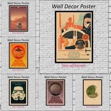 Star wars Fan Art Kraft Paper Wall Posters Stickers for Home Decor 42X30cm