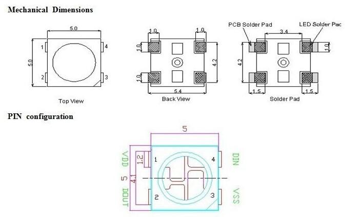 Tiras de Led ws2812 para faixa tela etc Especificações (pontos de Luz / M) : 30/60/144
