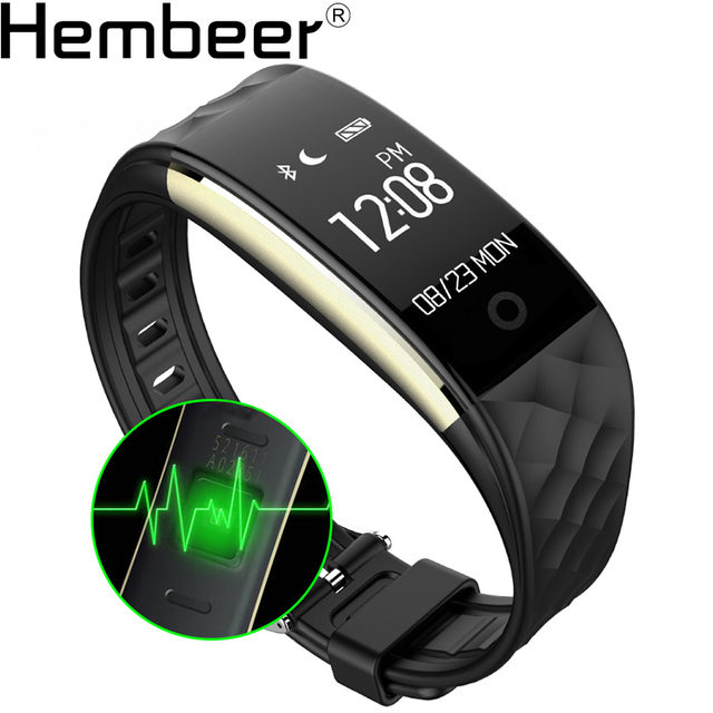 S2 Bluetooth Smart Band Wristband Heart Rate Monitor IP67 Waterproof Smartband Bracelet For Android IOS Phone  Activity Tracker