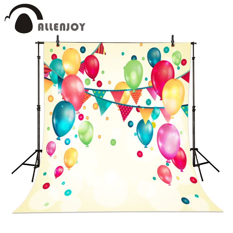 Allenjoy Party photography birthday children celebration balloons background yellow bunt Backdrops studio Personal customization allenjoy children birthday celebration