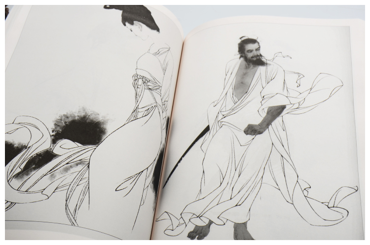 Line Art Figures : Famous historical figures drawing copy book traditional chinese