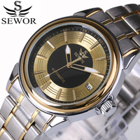 2016 Top Luxury Brand SEWOR Men Automatic Mechanical Watch Full Steel Mens Watches Sports Military Wrist