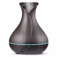 400ml Large Capacity Aroma Essential Oil Ultrasonic Diffuser Vase Shape Air Humidifier With 7 Color Changing