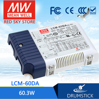 Hot! MEAN WELL LCM 60DA 90V 500mA meanwell LCM 60DA 90V 60.3W Multiple Stage Output Current LED Power Supply