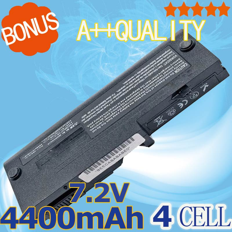 7.2 V <font><b>4400mAh</b></font> <font><b>battery</b></font> for Toshiba PA3689U-1BAS PA3689U-1BRS PABAS155 PABAS156 N270 NB100 NB105 4 cells image