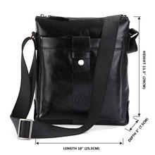 Fast Shipping Genuine Cow Leather Men's Shoulder Bag Messenger Bag Purse Cross Body 7151A