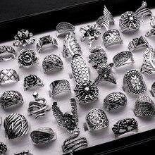 חדש סגנון טבעת לנשים וגברים לערבב סגנון לערבב גודל 25 יח\חבילה עתיק כסף מצופה בציר טבעת תכשיטי משלוח חינםrings for womenring forrings free shipping