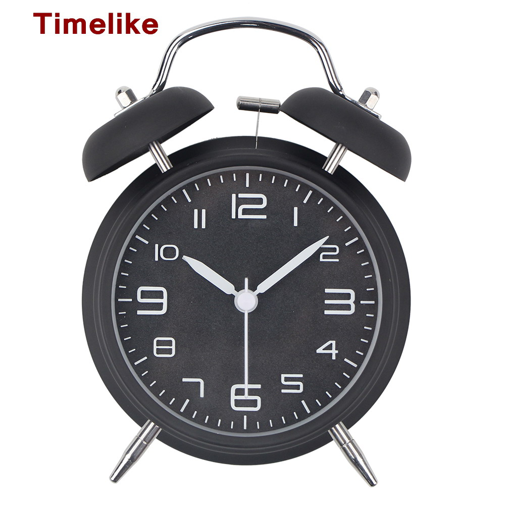 2019 New Alarm Clock Silent Scan Modern Black Metal Desk