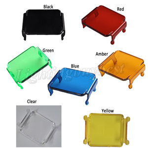 """Image 2 - 4PCS Protector Dust Proof Cover Amber Black Red Green Blue Clear for 3x3"""" inch 12W 18W 24W Square Cube Pods LED Work Light Bar"""