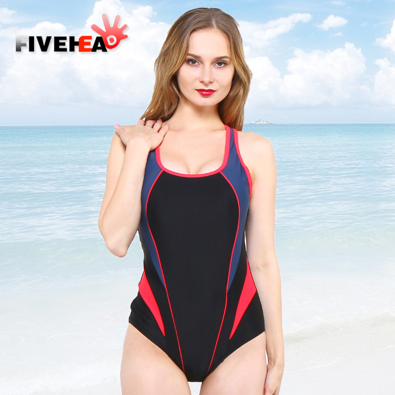 one-piece women swimwear sexy sling halter sporty style solid color large size bathing swimsuit push up female patchwork striped women one piece triangle swimsuit cover up sexy v neck strappy swimwear dot dress pleated skirt large size bathing suit 2017