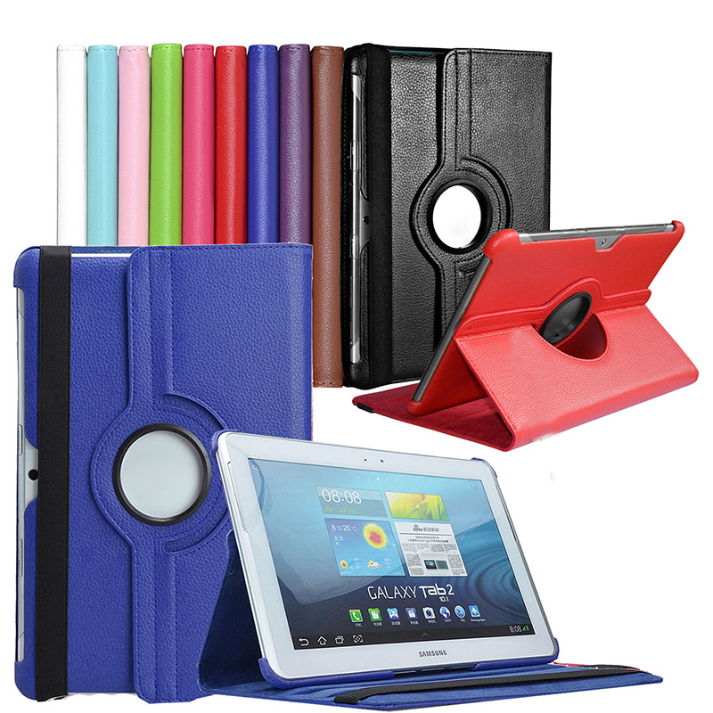 PU Leather 360 Rotation Stand Case Cover For Samsung Galaxy Tab 2 10.1 inch P5100 P5110 7500 P7510 gt-p5100 cases tablet bags кабель samsung m190s p3100 p3110 p5100 p5110 p6210 p6200