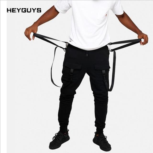 ad01839403d HEYGUYS 2018 New Dry Men s Pants pocket Full Length Men HIPHOP joggers  Pants Plus Size Trousers men belt women streetwear M--XXL