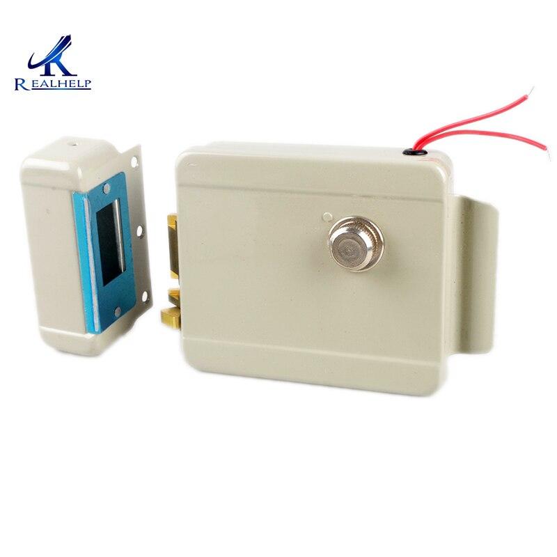 Left Right Open Lock Electric Door Lock Motor Drive Lock for Video Door Phone Access Control System Suitable for All door