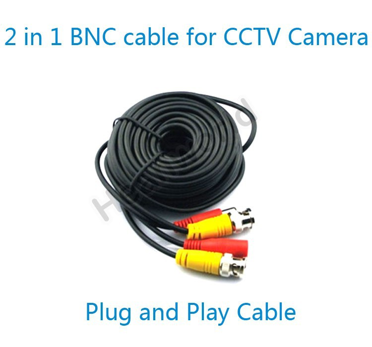 Heanworld 2 in 1 BNC cable 20 meters BNC Video Power Cable All-in-one video and power cable CCTV Plug&Play Cable for CCTV camera цена