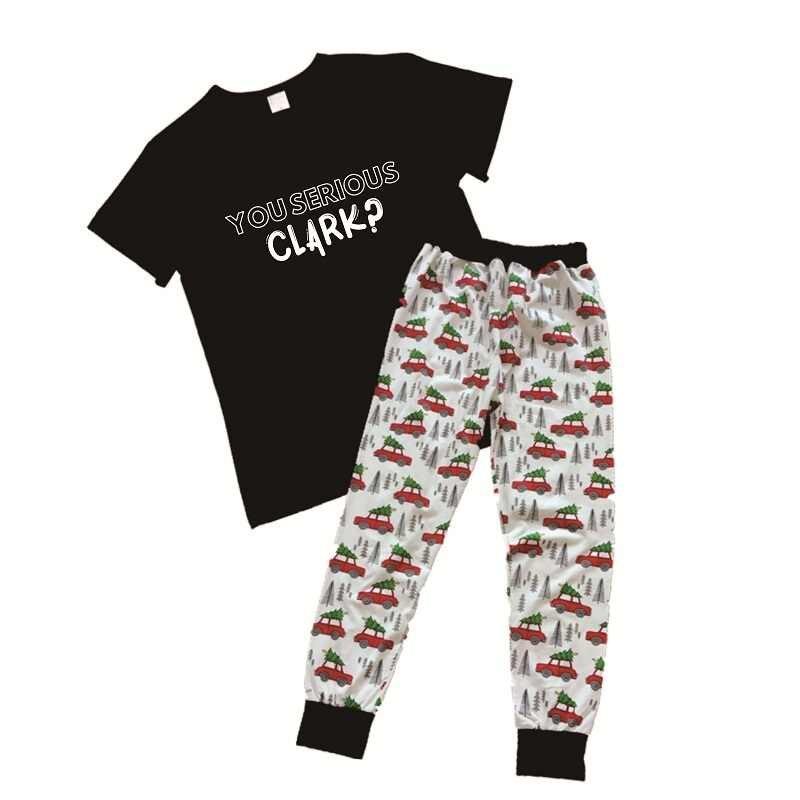 OKOUFEN あなた深刻なクラーク 2 個セットカジュアルおかしい女性 Tシャツメリークリスマス Tシャツセットレター夏半袖トップ
