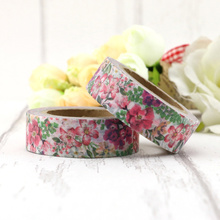 1 roll Fresh Green Leaves & Flowers Decorative Washi Tape DIY Scrapbooking Masking Tape School Office Supply Escolar Papelaria 2j202 1 5cm wide the puzzle world decorative washi tape diy scrapbooking masking tape school office supply escolar papelaria