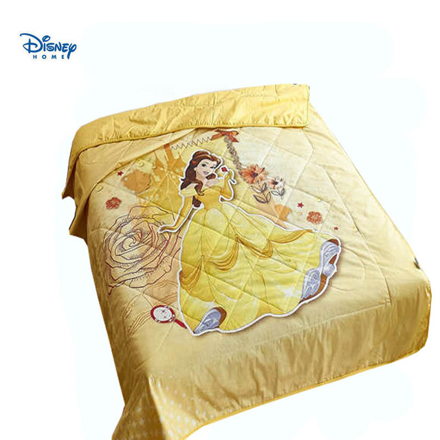 5c53f94ad6 Disney Beauty And The Beast Quilt Tiwn Size For Baby Girl 100 Cotton 3d  Princess Bell