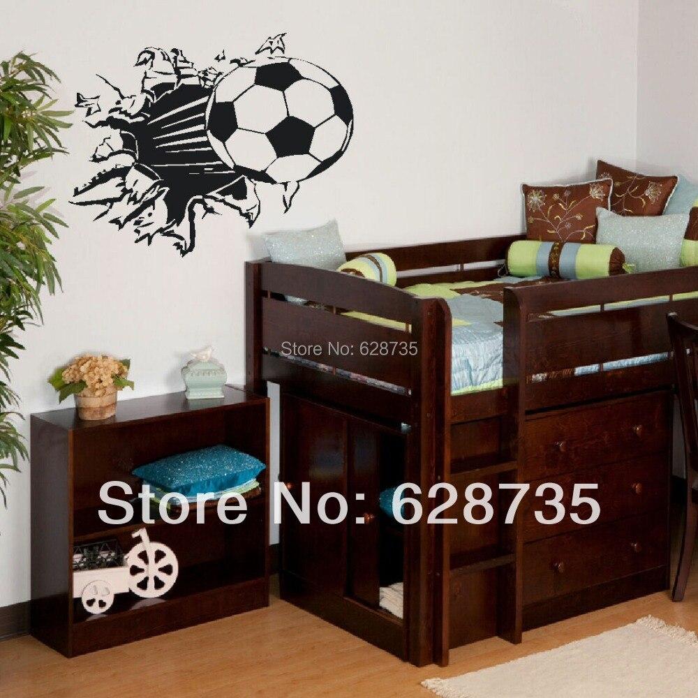 Free Shipping Soccer Ball Football Vinyl Wall Sticker Decal Kids Room Decor Sport Boy Art Bedroom
