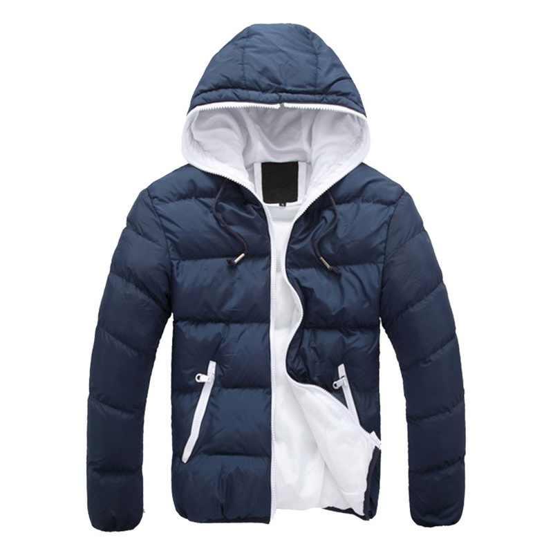 Oeak 2019 男性の冬のカジュアル付きパーカー厚手パッド入りジャケットジッパースリム男性と女性のコート男性パーカー生き抜く暖かいキャンディーカラー