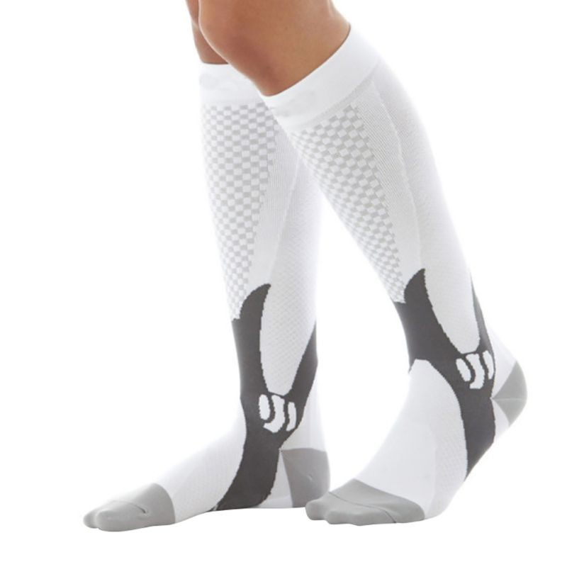 Men Women Unisex Leg Support Stretch Outdoor Sport Socks Knee High Compression Socks Running Snowboard Long Socks 7