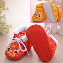 Newborn baby Shoes Autumn Winter Baby Girl Boy Cartoon Embro