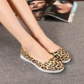 2017 New Spring Fashion Horsehair Women Soft Loafers Round Toe Comfortable Ladies Leopard Flats Shoes Simple Style