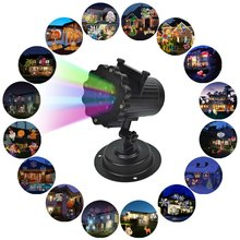 Kmashi 16 film Replaceable Night Lamp Auto Moving LED Projector Laser Stage Light elf projection Lawn light outdoor garden lamp
