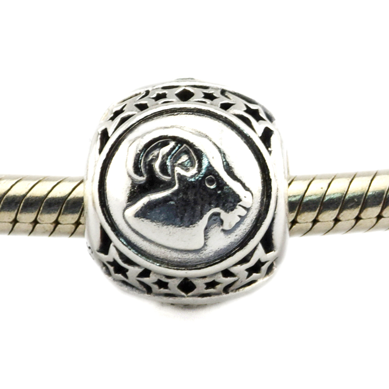 Fits For Pandora Bracelets Capricorn Star Sign Charms 100% 925 Sterling Silver Beads Free Shipping