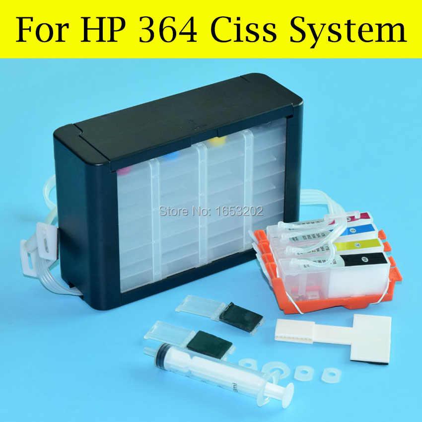 1セットhp364用連続インク供給システム用のhp 364 3520 3522 3524 4620 4622 5510 5514 5515プリンタでアークチップ
