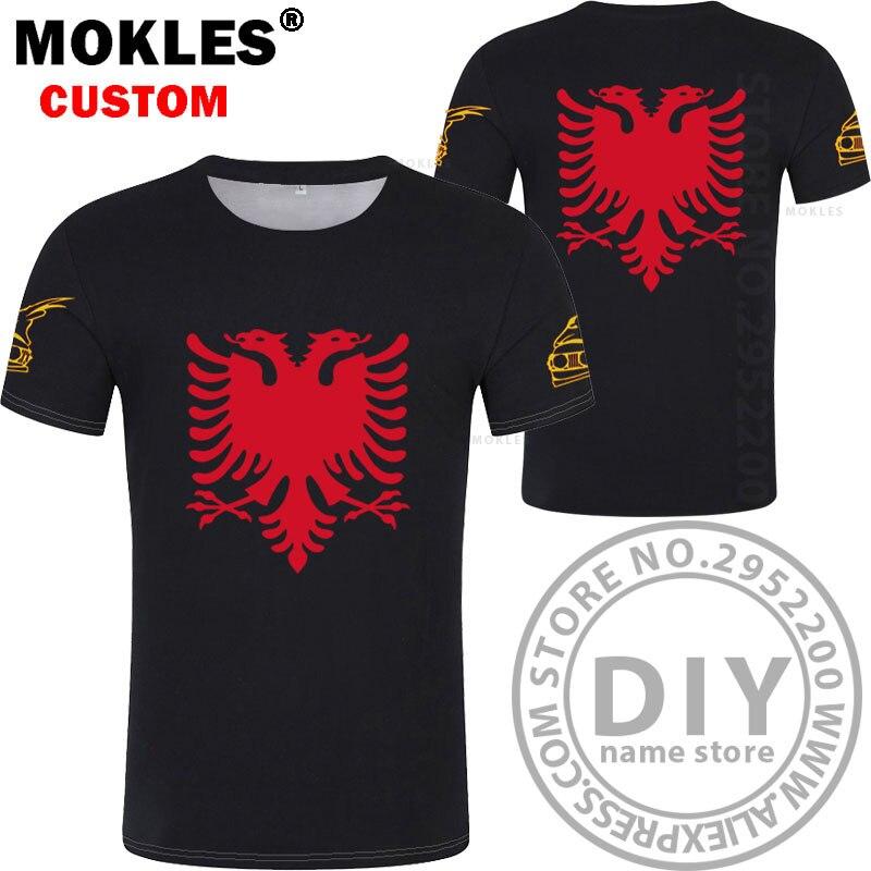 ca047d842731ef Albanien Adler Freies Shirt T Turnhallen Anzahl Custom Name aavqrn7wd