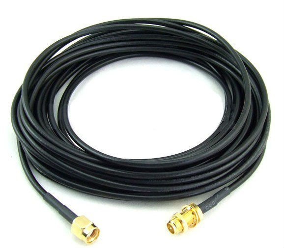 5 Meter RG58 cable with RP-SMA female to RP-SMA male connector for yagi antenna cable Extension cord Free shipping rp sma female to y type 2x ip 9 ms156 male splitter combiner cable pigtail rg316 one sma point 2 ms156 connector for lte yota