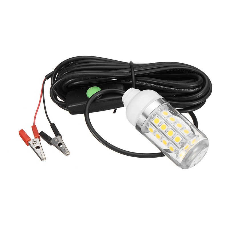 12V 36 LED Light Bulb Underwater Submersible Night Fishing Light Shad Bait Lure Squid Boat Lamp W/ 5m IP67 Waterproof Lamp New 12v led green lure bait finder night fishing boat submersible deep drop underwater lights for crappie bass striper catfish