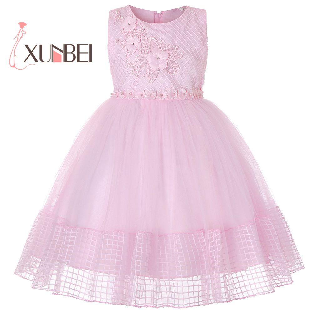 27115fc225d26d8 Платье принцессы с бисером и цветочным узором для девочек, коллекция 2019  года, пышные платья для девочек, детские платья для причастия, бальн.