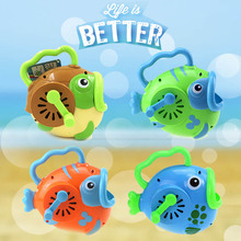 Hand Bubble Machine Portable Cartoon Fish Bubble Toys Outdoor Toys Children Cute Animal Toy Water Activities Kids